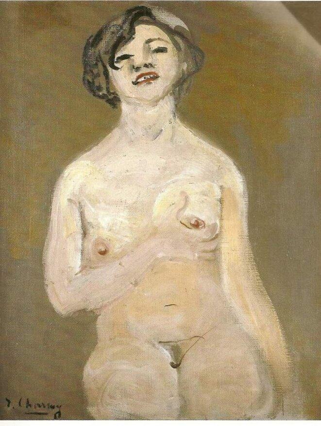 Nu tenant son sein, Emilie Charmy, 1920