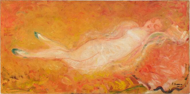Nu aux escarpins verts, Emilie Charmy, 1900