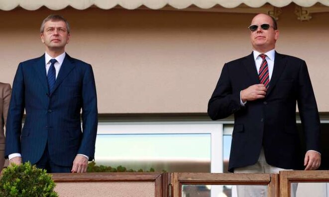 Dmitry Rybolovlev (left) with Prince Albert II of Monaco, May 4th 2013. © Reuters