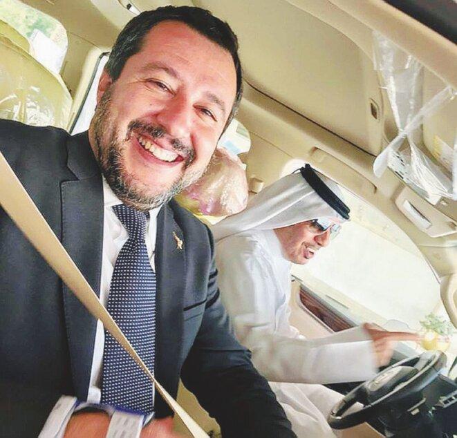 Matteo Salvini avec le Premier Ministre du Qatar