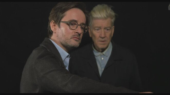 Pierre-Henri Gibert (à gauche) et David Lynch (à droite) © DR