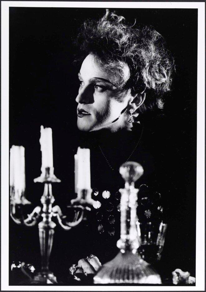 """Ariel Garcia-Valès dans """"L rose et la hache"""" en 1979 © Guy Delahaye"""