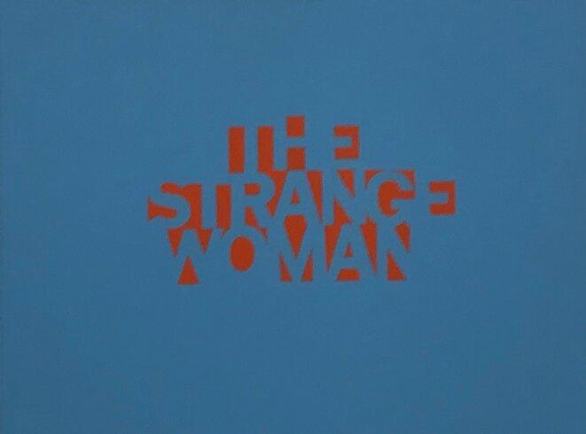 """Sylvie Fanchon, """"THESTRANGEWOMAN"""", 2013, Acrylique sur toile © Sylvie Fanchon; crédit photo: Guillaume Lasserre"""