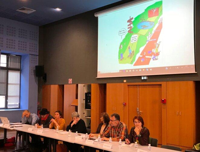 Intervenants au Forum du 16 novembre à Toulouse [Ph. YF]