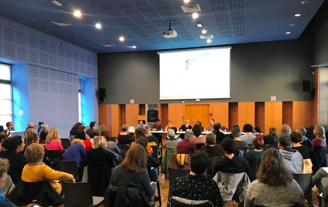 Forum du Collectif Enfance 31, Espace Duranti, salle Osete, le 16 novembre à Toulouse [Ph. YF]