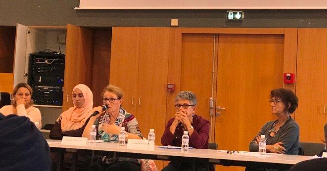 Lors de l'intervention des membres de l'Assemblée parents-profs-habitants de La Reynerie [Ph. YF]