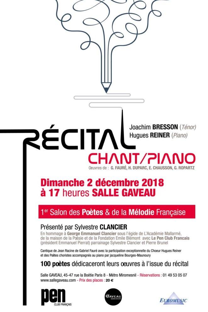 Salon des Poètes et de la Mélodie Française 2018- DR