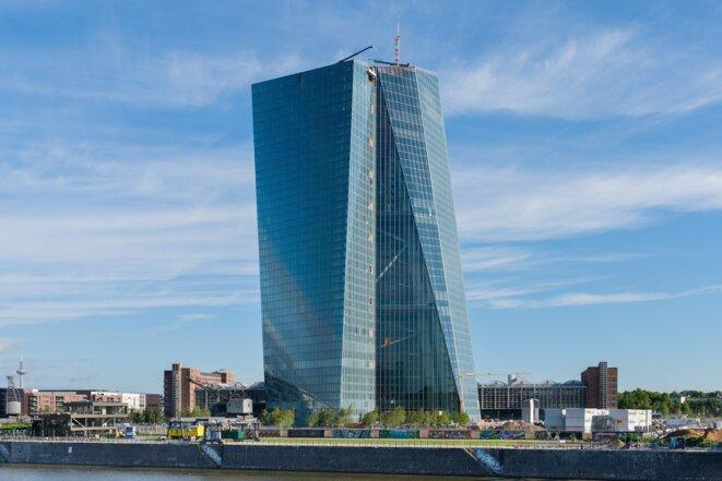 European Central Bank, building under construction in Frankfurt © Norbert Nagel