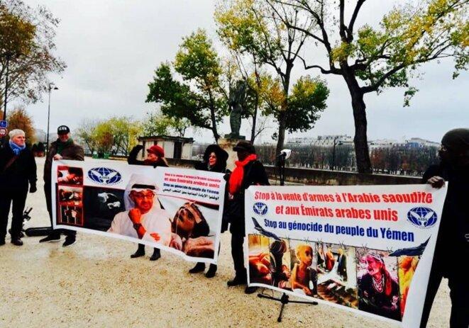 thierry  Paul valette pour la collectif contre la famine au yémen et l'AIDL