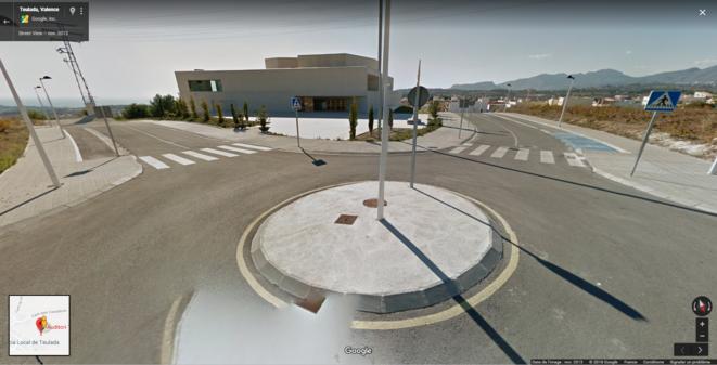 Le rond-point retrouvé ! (Googlemaps)