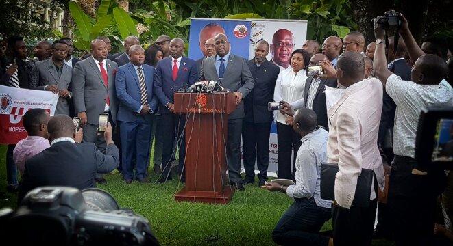 Vital Kamerhe et Félix Tshisekedi à Nairobi le 23 novembre 2018 © Twitter - DR