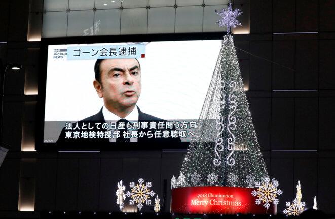 Nouvelles sur l'arrestation de Carlos Ghosn dans les rues de Tokyo. © Reuters