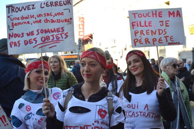 Marche contre les violences sexistes et sexuelles, Marseille, le 24 novembre 2018. © LF