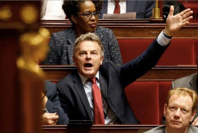 """Le député du Nord, Fabien Roussel, nouveau """"patron"""" des communistes. © Reuters."""