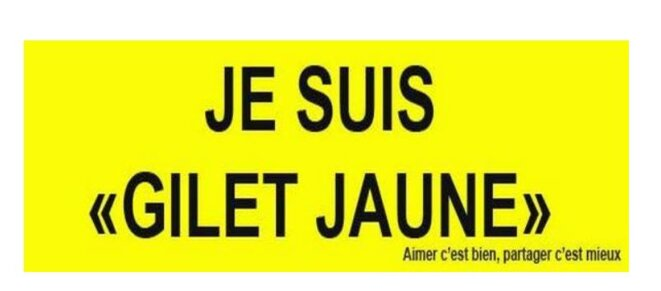 Je suis Gilet jaune © x