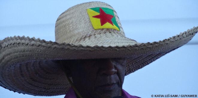 M Raymond, Ignacio di Loyola,Charlotte co-fondateur de l'Organisation Guyanaise des Droits Humains). Un des pères vivants de la Nation Guyanaise. Crédit photographie Katia Lei-Sam/GUYAWEB. © KATIA LEÏ-SAM / GUYAWEB.