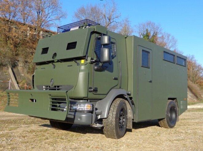 Véhicule MIDS portant la mention « Égypte ». © Photo publiée sur l'ancien site de Renault Trucks Defense, avant que la société ne se renomme Arquus.