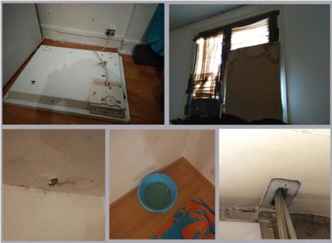 Photos d'intérieurs de logements en précarité énergétique.