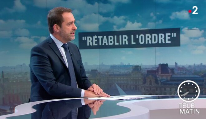 Le ministre de l'intérieur Christophe Castaner dans « Télématin », le 20 novembre. © DR