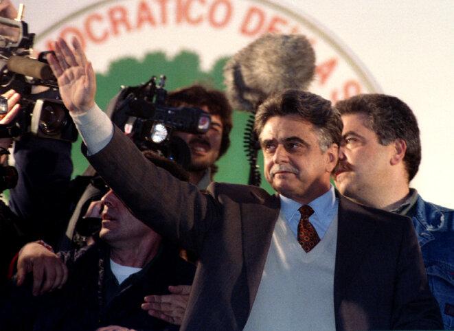 Achille Occhetto lors de la campagne de 1994. © Reuters