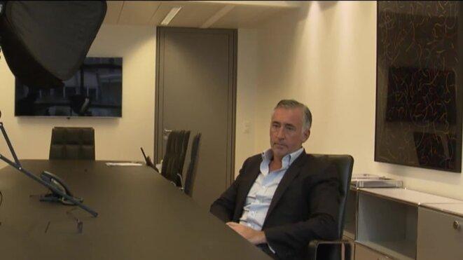 Eric Arnoux lors de son interview à la télévision
