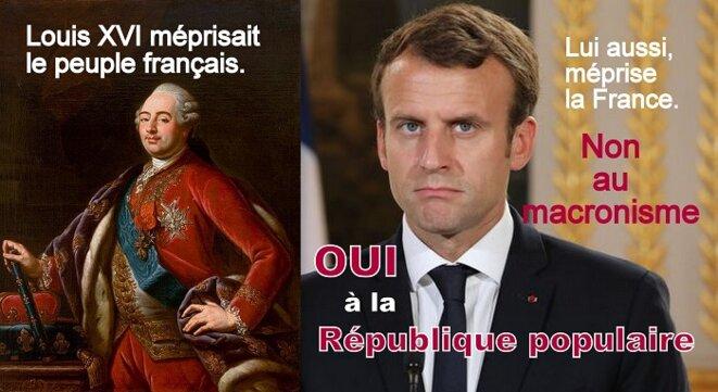 Le monarque Macron agit comme Louis XVI © Gene Reynaud