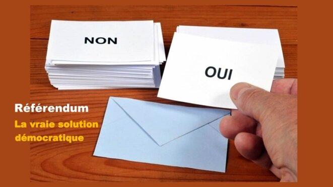 Référendum : la vraie solution démocratique © Gene Reynaud