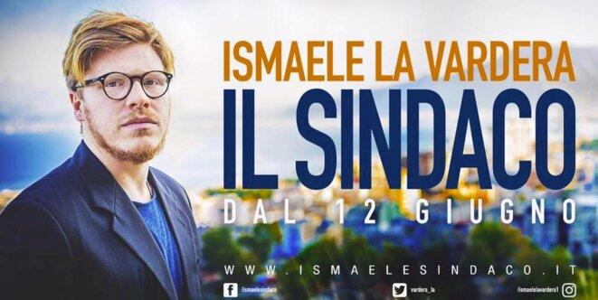 L'affiche de campagne d'Ismaele La Vardera pour les municipales du 12 juin 2017.