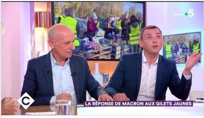 Jean-Michel Aphatie et Benjamin Cauchy, gilet jaune de Toulouse [France 5]