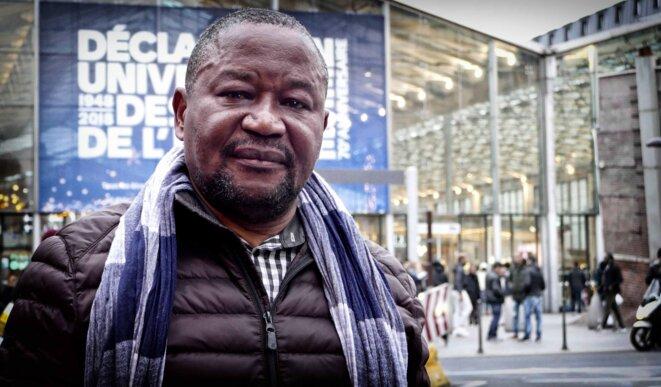 Paul Nsapu à Paris le 2 décembre 2018 © Christophe Rigaud - Afrikarabia