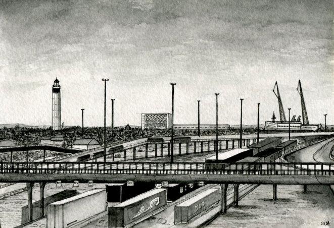 Le port de Calais. © Elisa Perrigueur