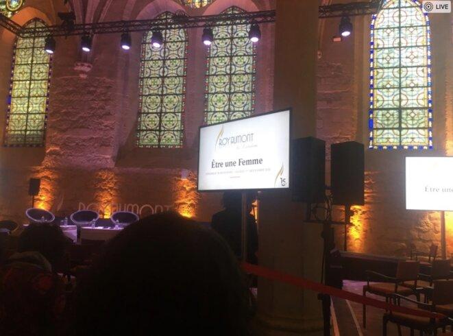 Salle de conférence dans l'abbaye de Royaumont. © LD