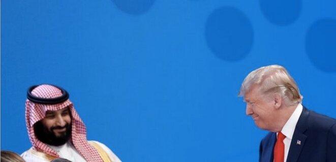 30 novembre 2018. Donald Trump et Mohammed ben Salmane au G20 en Argentine. © Kevin Lamarque / Reuters