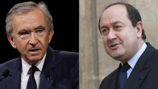 Bernard Arnault et Bernard Squarcini. © Reuters
