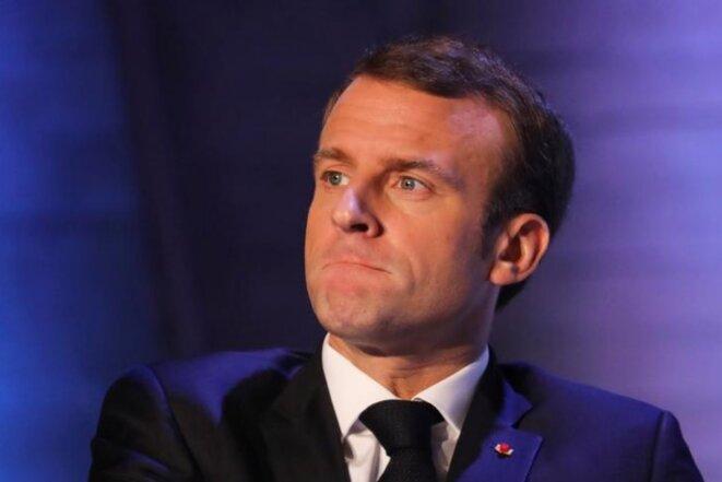Emmanuel Macron, le 12 novembre. © Reuters
