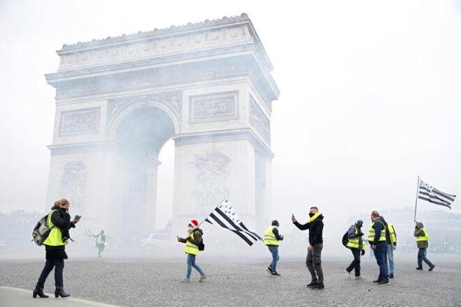 La mobilisation des « gilets jaunes », le 1er décembre à Paris. © Reuters