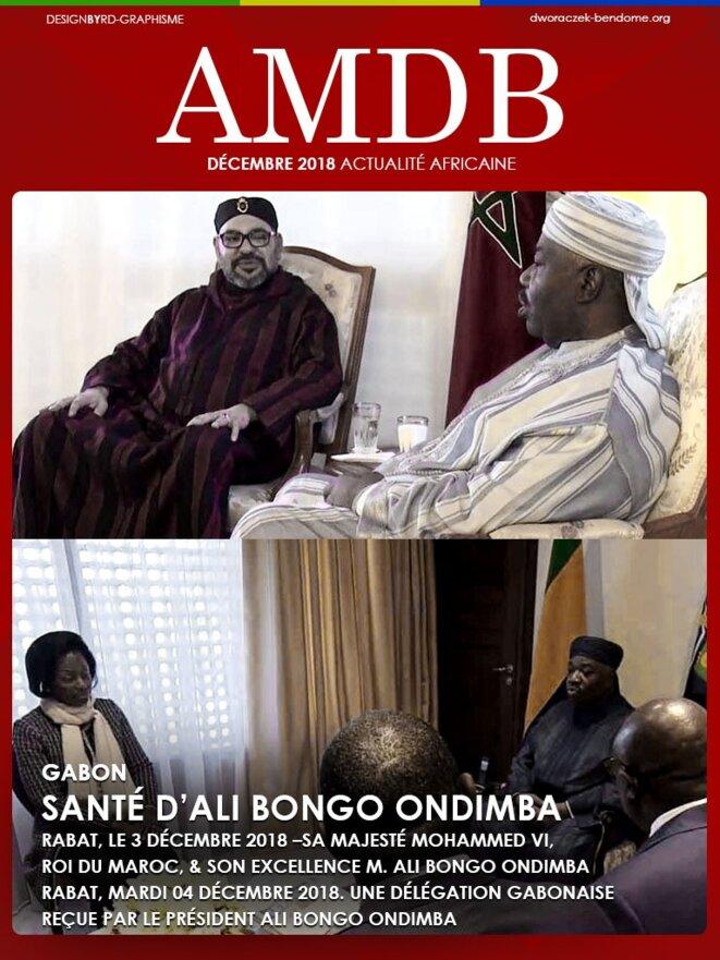 Ali Bongo Ondimba recevant le 3 décembre, la visite du Roi du Maroc et le 4 décembre 2018, une délégation gabonaise