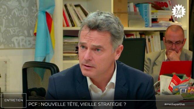 Fabien Roussel (secrétaire national du PCF). © Mediapart