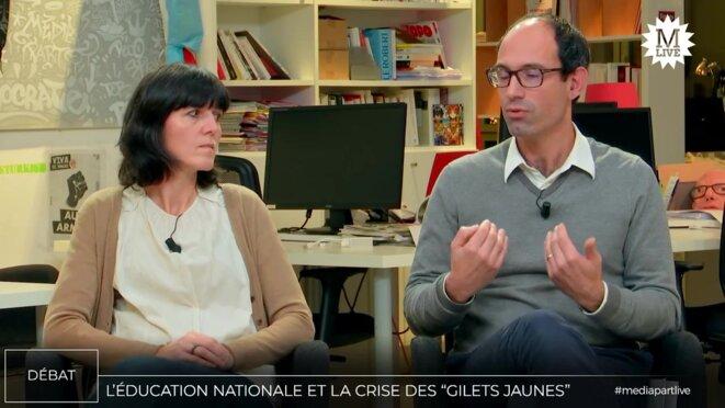 Servane Marzin et Erwan Le Nader © Mediapart