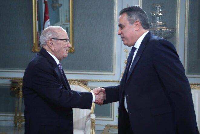 Rencontre le 28 novembre dernier entre le Président Essebsi et Mehdi Jomaa, fondateur d'Al Badil Ettounsi