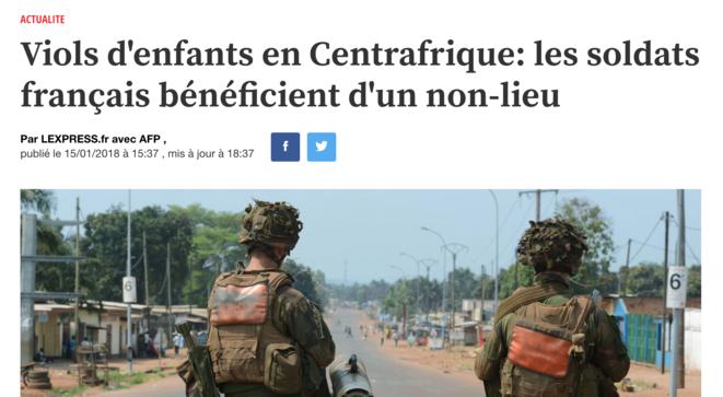Quand la France récompense ses soldats pour leur effort conséquent dans le rétablissement de la paix civile et de la démocratie en Centrafrique