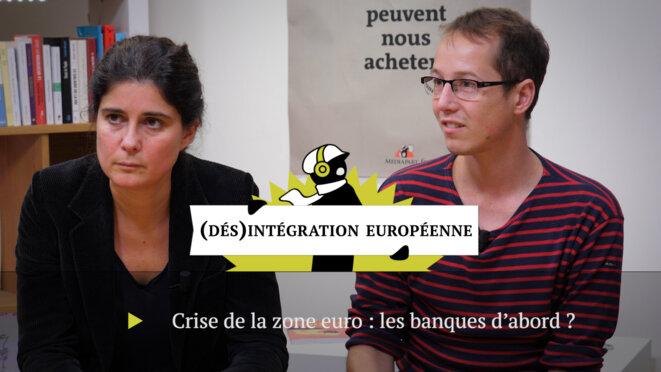 Anne-Laure Delatte et Clément Fontan. © Mediapart