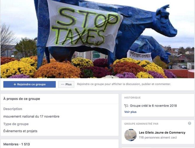 Le groupe Facebook des « gilets jaunes » de Commercy.