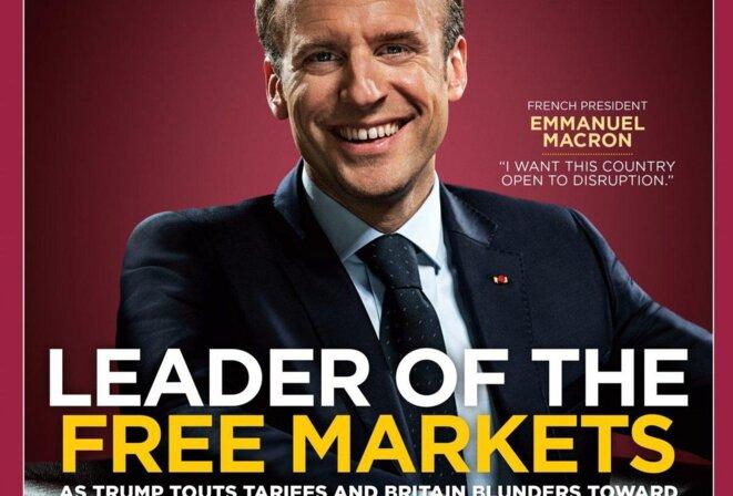 Emmanuel Macron en une de « Forbes », le 1er mai 2018. © Forbes