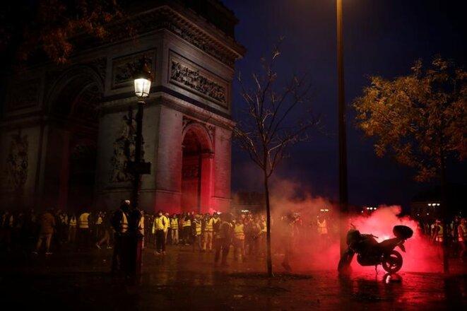 Place de l'Étoile à Paris, le 1er décembre. © Reuters