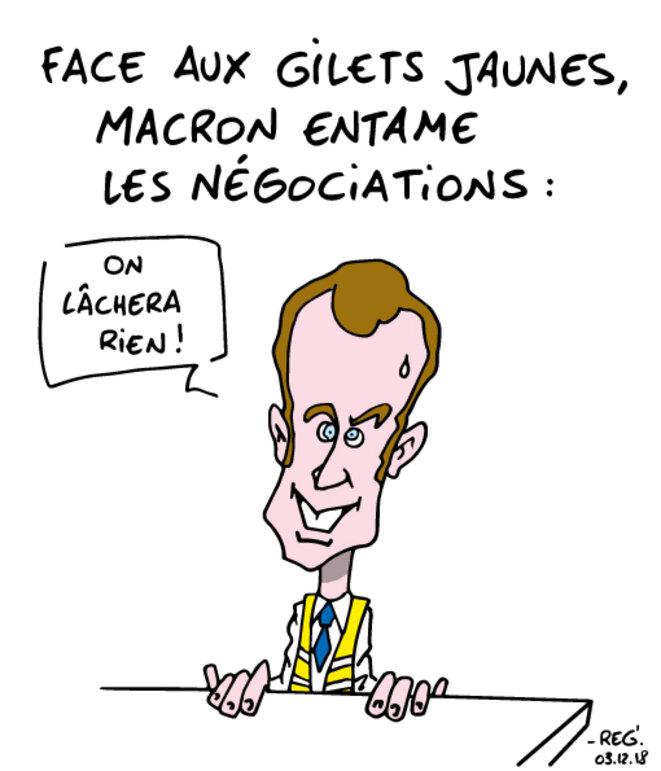 Les négociations selon Macron...