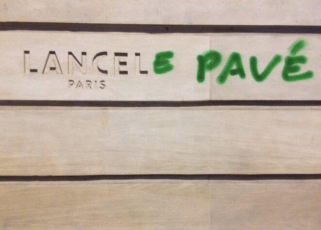 Réinterprétation de la boutique Lancel à Opéra © JC