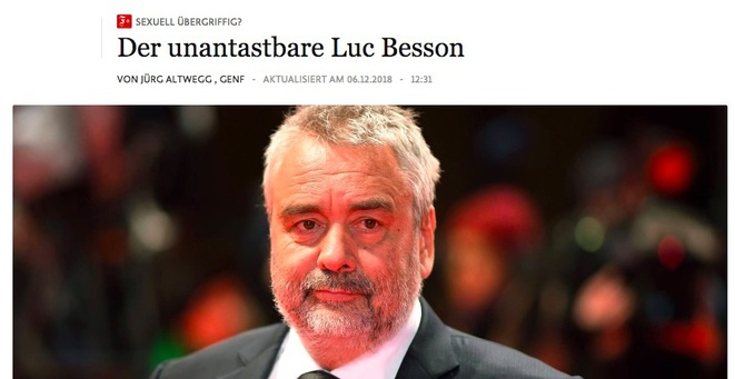 """The untouchable Luc Besson"", the headline of an article published by German daily Frankfurter Allgemeine Zeitung."