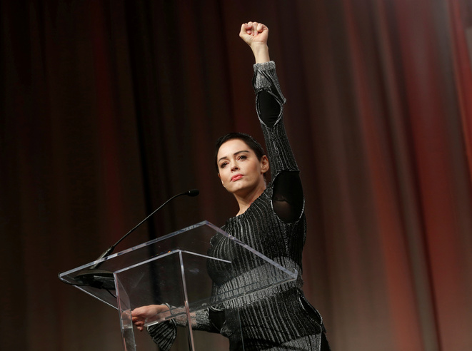 Rose McGowan, a leading figure of the #MeToo movement during a meeting of the 'Women's Convention' in Detroit, October 27th 2017. © Reuters