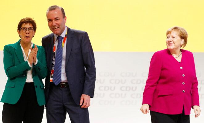 Lors du congrès de la CDU à Hambourg, le 8 décembre 2018. © Reuters